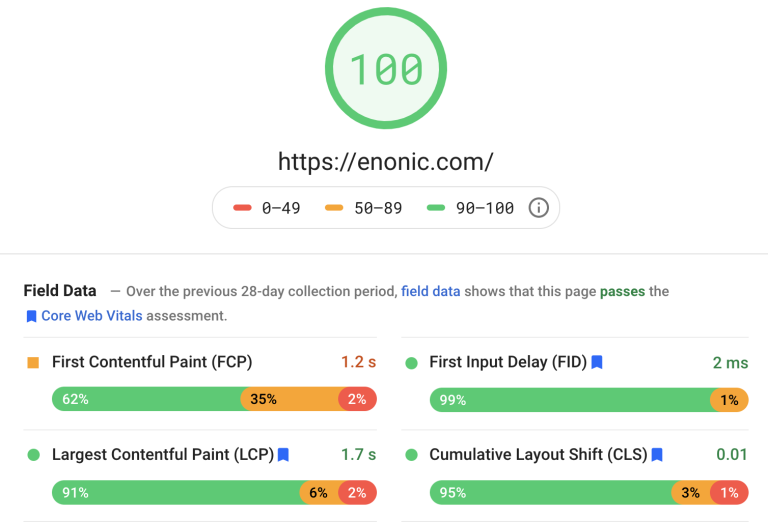 enonic-pagespeed-insight-100